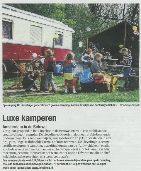 De Lievelinge in Het Parool - 1 juni 2013